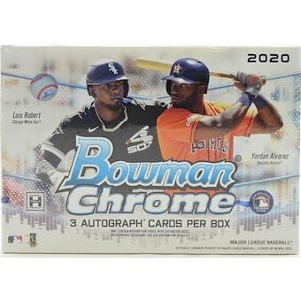 2020 Bowman Chrome Baseball HTA Jumbo Box