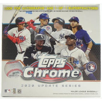 2020 Topps Chrome Update Baseball Mega Box (White)
