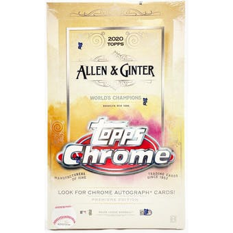2020 Topps Allen & Ginter Chrome Baseball Hobby Box