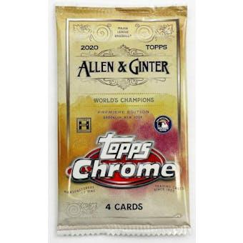2020 Topps Allen & Ginter Chrome Baseball Hobby Pack