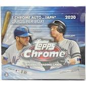 2020 Topps Chrome Baseball Hobby Jumbo Box