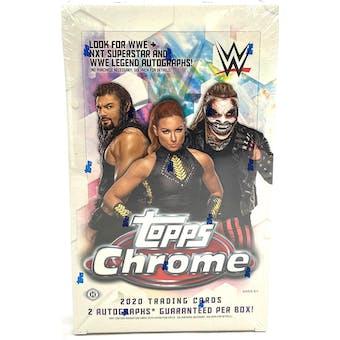 2020 Topps WWE Chrome Wrestling Hobby Box