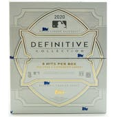 2020 Topps Definitive Collection Baseball Hobby 3-Box Case