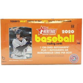 2020 Topps Heritage Minor League Baseball Hobby Box
