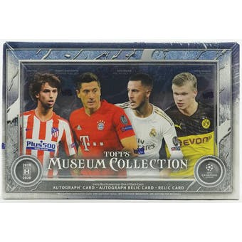 2019/20 Topps UEFA Champions League Museum Collection Soccer Hobby Box