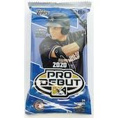 2020 Topps Pro Debut Baseball Hobby Jumbo Pack