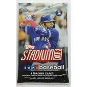 2020 Topps Stadium Club Baseball Hobby Pack
