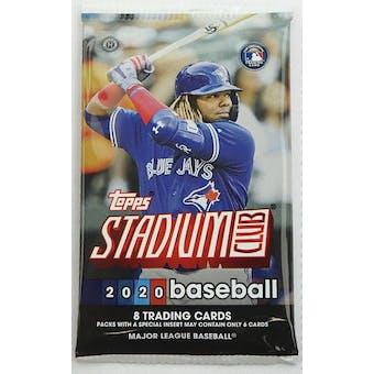 2020 Topps Stadium Club Baseball Hobby Pack