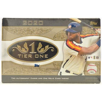 2020 Topps Tier One Baseball 12-Box Case- DACW Live 6 Spot Random Division Break #4