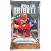 2020 Topps Tribute Baseball Hobby Pack