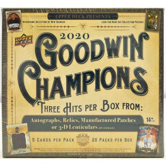 2020 Upper Deck Goodwin Champions Hobby Box