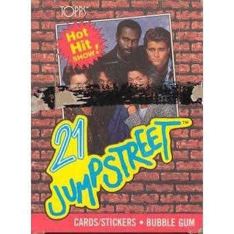 21 Jump Street Trading Cards Wax Box (1988 Topps)