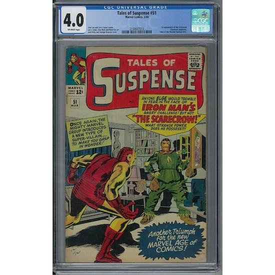 Tales of Suspense #51CGC 4.0 (OW) *2100637013*