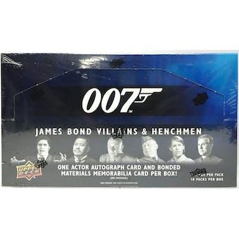 James Bond 007 Villains & Henchmen Trading Cards Box (Upper Deck 2020)