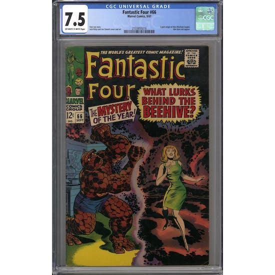 Fantastic Four #66 CGC 7.5 (OW-W) *2103855016*