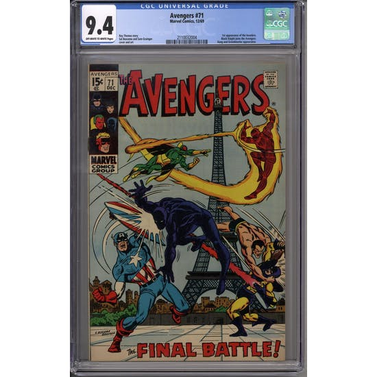 Avengers #71 CGC 9.4 (OW-W) *2110032004*