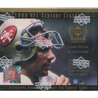 1999 Upper Deck Century Legends Football Hobby Box