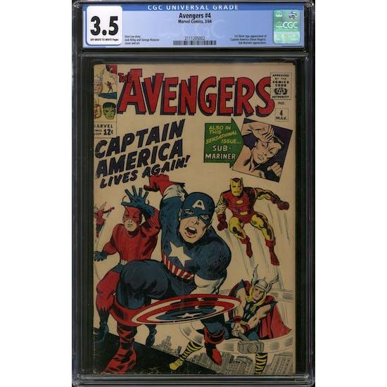 Avengers #4 CGC 3.5 (OW-W) *2111205002*