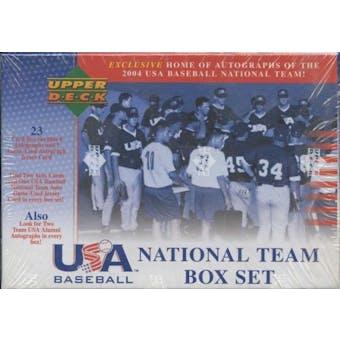 2005 Upper Deck Team USA Baseball Factory Set (Box)