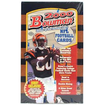 2000 Bowman Football Hobby Box