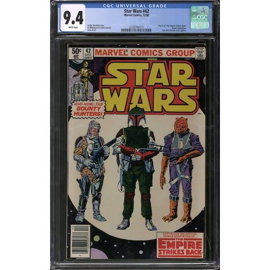 Star Wars #42 Newwstand Edition CGC 9.4 (W) *2129744013*
