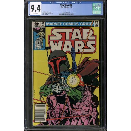 Star Wars #68 Newwstand Edition CGC 9.4 (W) *2129744017*