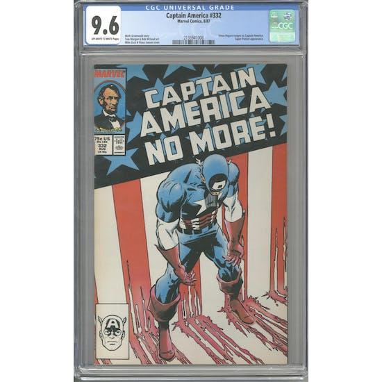 Captain America #332 CGC 9.6 (OW-W) *2135941008*