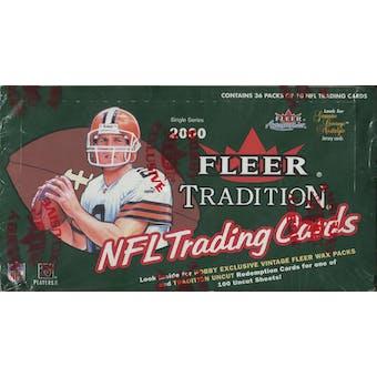 2000 Fleer Tradition Football Hobby Box