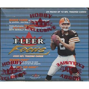 2000 Fleer Focus Football Hobby Box