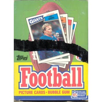 1987 Topps Football Wax Box