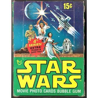 Star Wars 4th Series Wax Box (1977-78 Topps)