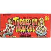 Turned On Iron-Ons Trading Cards Wax Box (Donruss 1972)