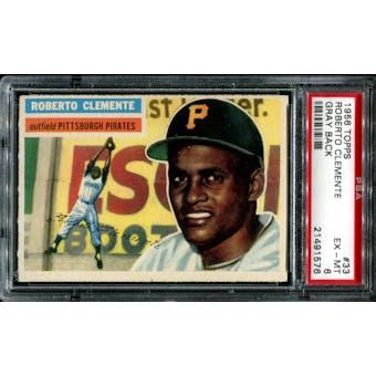 1956 Topps Baseball #33 Roberto Clemente PSA 6 (EX-MT) *1576