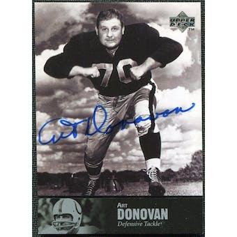 1997 Upper Deck Legends Autographs #AL30 Art Donovan