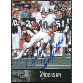 1997 Upper Deck Legends Autographs #AL75 Dick Anderson