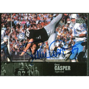 1997 Upper Deck Legends Autographs #AL86 Dave Casper