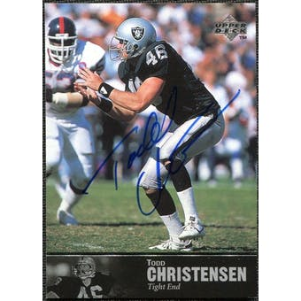 1997 Upper Deck Legends Autographs #AL88 Todd Christensen