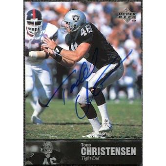 1997 Upper Deck Legends Autographs #AL88 Todd Christensen