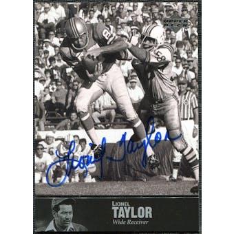1997 Upper Deck Legends Autographs #AL172 Lionel Taylor