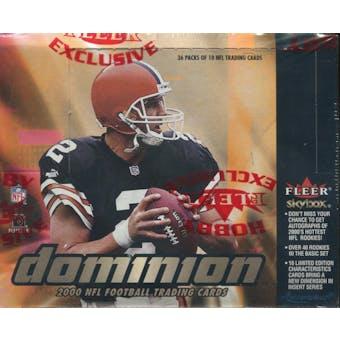 2000 Skybox Dominion Football Hobby Box
