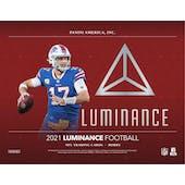2021 Panini Luminance Football Hobby Box (Presell)