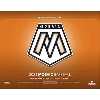 2021 Panini Mosaic Baseball Hobby 12-Box Case (Presell)