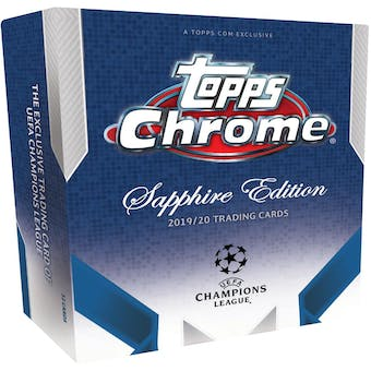 2019/20 Topps UEFA Champions League Chrome Sapphire Edition Soccer Hobby Box
