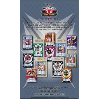2021 Leaf Valiant Football Hobby Box (Presell)