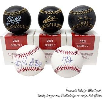 2021 Hit Parade Autographed Baseball Hobby Box - Series 7 - Trout, Betts, Pujols, Tatis Jr., & Rivera!!!