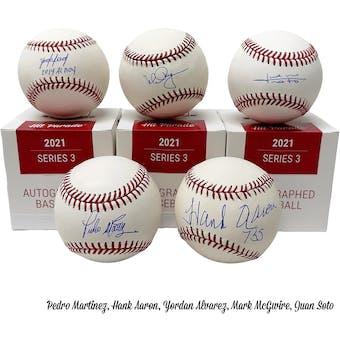 2021 Hit Parade Autographed Baseball Hobby Box - Series 3 - Hank Aaron, Derek Jeter & Albert Pujols!!!