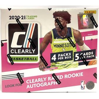 2020/21 Panini Clearly Donruss Basketball Hobby 12-Box Case- DACW Live 30 Spot Random Team Break #3