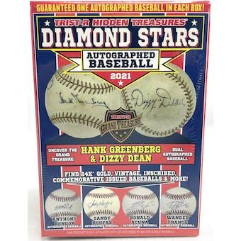 2021 TriStar Hidden Treasures Diamond Stars Autographed Baseball Hobby Box