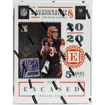2020 Panini Encased Football Hobby 1st Off The Line FOTL Box