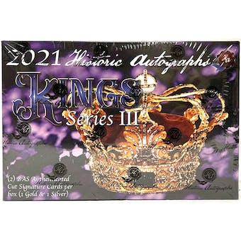 2021 Historic Autographs Kings Series 3 Hobby Box